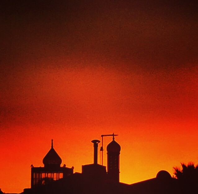 masjid in the Sunset